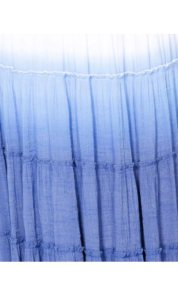 Ombre Layered Pull On Maxi Skirt Blue - Gallery Image 4