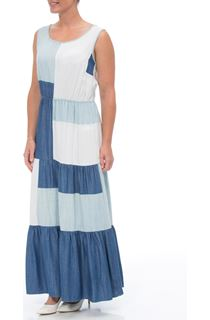 Sleeveless Colour block Maxi Dress