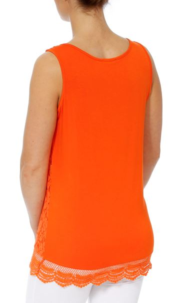 Sleeveless Lace Layered Top Tangerine - Gallery Image 3
