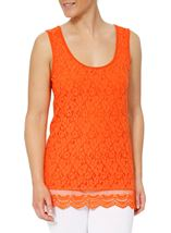 Sleeveless Lace Layered Top Tangerine - Gallery Image 2
