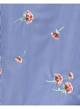 Stripe And Embroidered Blouse Blue/White - Gallery Image 4