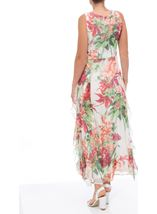 Printed Chiffon Ruffle Maxi Dress Orange Multi - Gallery Image 3