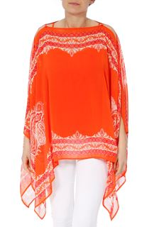 Convertible Georgette Cover Up - Tangerine