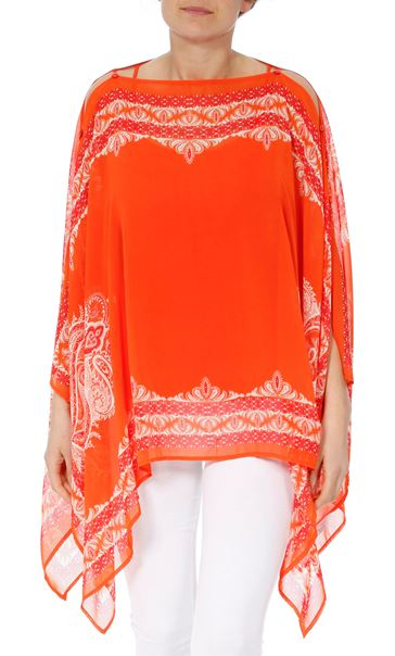 Convertible Georgette Cover Up Tangerine - Gallery Image 2