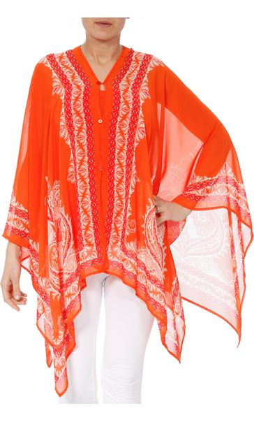 Convertible Georgette Cover Up Tangerine - Gallery Image 3