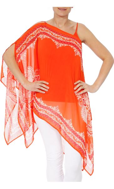 Convertible Georgette Cover Up Tangerine - Gallery Image 4