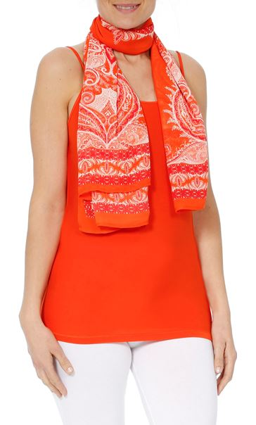 Convertible Georgette Cover Up Tangerine - Gallery Image 5