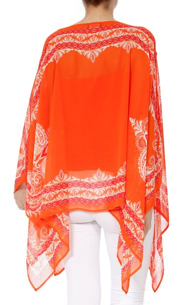 Convertible Georgette Cover Up Tangerine - Gallery Image 8