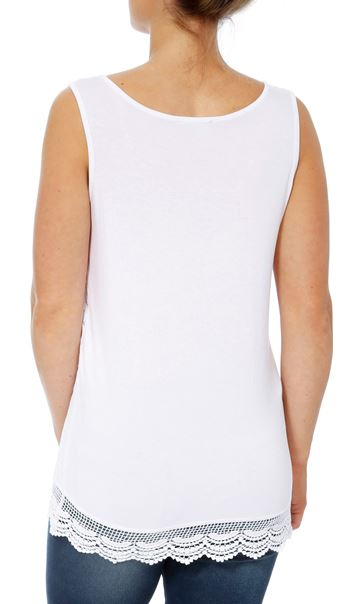 Sleeveless Lace Layered Top White - Gallery Image 2