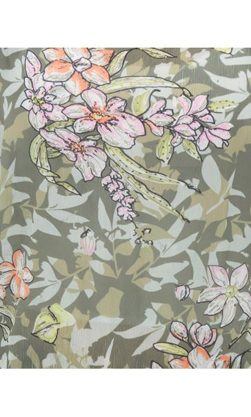 Print And Embellished Short Sleeve Top Sage Green - Gallery Image 4