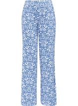 Anna Rose Printed Jersey Pull On Trouser Blue/White - Gallery Image 1