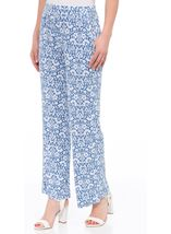 Anna Rose Printed Jersey Pull On Trouser Blue/White - Gallery Image 2
