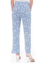Anna Rose Printed Jersey Pull On Trouser Blue/White - Gallery Image 3