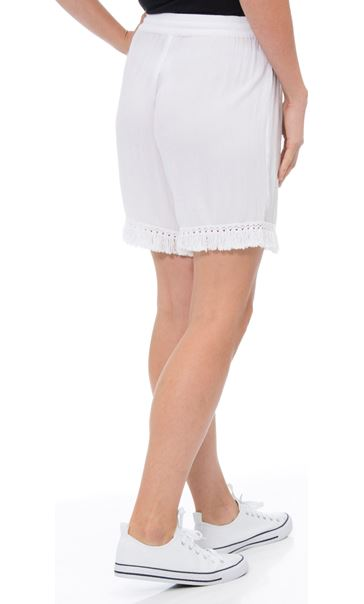 Crinkle Pull On Shorts White - Gallery Image 2
