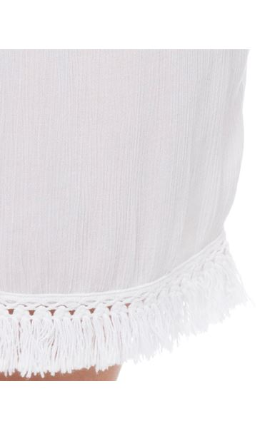 Crinkle Pull On Shorts White - Gallery Image 4