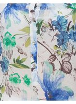 Anna Rose Cotton Blend Print Top White/Green/Blue - Gallery Image 4