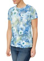 Anna Rose Floral Printed Short Blue/Green - Gallery Image 2