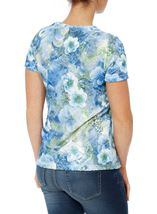 Anna Rose Floral Printed Short Blue/Green - Gallery Image 3