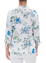 Anna Rose Floral Blouse With Necklace White/Green - Gallery Image 2