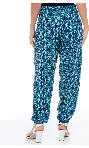 Printed Elasticated Cuff Trousers Check - Gallery Image 3