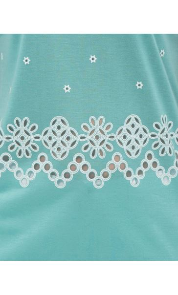 Embroidered Short Sleeve Jersey Top Multi - Gallery Image 4