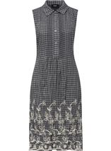 Embroidered Sleeveless Stripe Tunic Black/White - Gallery Image 3