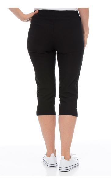 Cropped Stretch Slim Trousers Black - Gallery Image 3