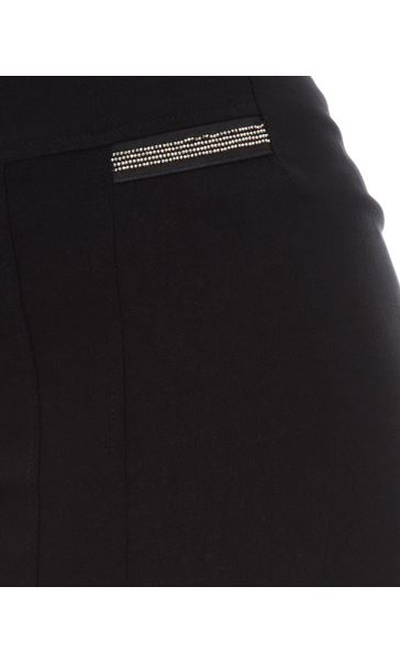 Cropped Stretch Slim Trousers Black - Gallery Image 4