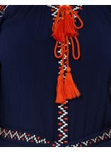 Long Sleeve Embroidered Tunic Midnight - Gallery Image 4