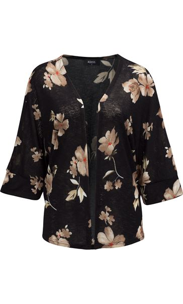 Floral Print Cover Up Black/Red