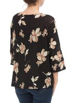 Floral Print Cover Up Black/Red - Gallery Image 3