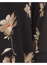 Floral Print Cover Up Black/Red - Gallery Image 4