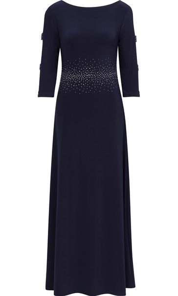 Embellished Cowl Back Maxi Dress Midnight