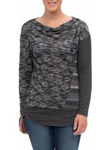 Lightweight Distressed Knit Tunic Grey - Gallery Image 2