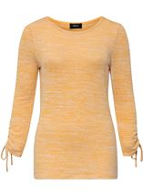 Ruched Long Sleeve Knit Top Mustard - Gallery Image 3