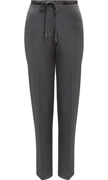 Tapered Tie Waist Trousers Charcoal