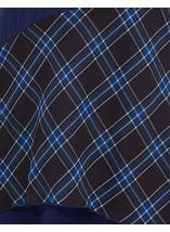 Checked Trim Dip Hem Tunic Black/Blue - Gallery Image 4