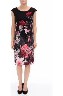 Garden Print Sleeveless Midi Dress