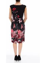 Garden Print Sleeveless Midi Dress Black/Red - Gallery Image 3