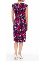 Anna Rose Floral Scuba Dress Navy/Magenta - Gallery Image 3