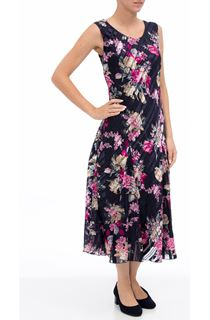 Anna Rose Bias Cut Floral Midi Dress