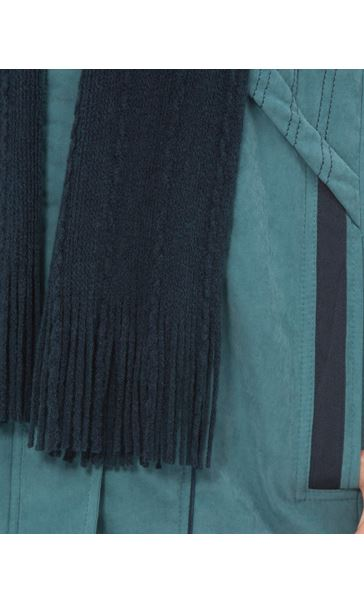 Anna Rose Hooded Coat With Scarf Deep Aqua - Gallery Image 4