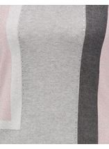 Anna Rose Colour Block Shimmer Knitted Top Grey/Pink - Gallery Image 4