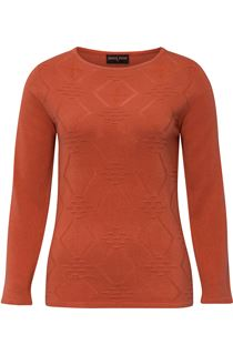 Anna Rose Embellished Knit Top - Autumn Rust