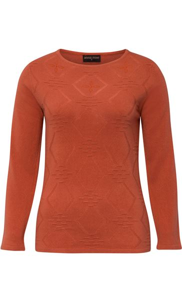 Anna Rose Embellished Knit Top Autumn Rust