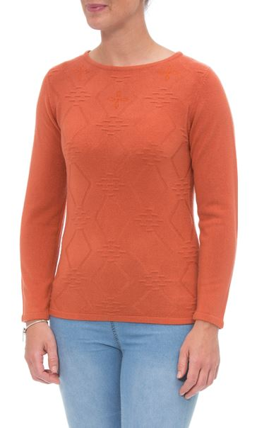 Anna Rose Embellished Knit Top Autumn Rust - Gallery Image 2