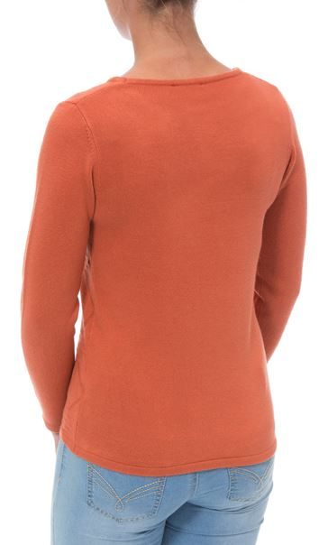 Anna Rose Embellished Knit Top Autumn Rust - Gallery Image 3