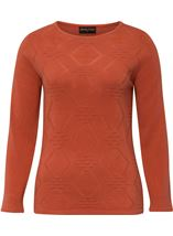 Anna Rose Embellished Knit Top Autumn Rust - Gallery Image 1