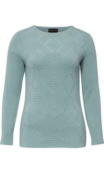 Anna Rose Embellished Knit Top Sage