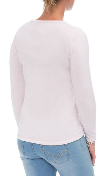 Anna Rose Embellished Knit Top Pale Pink - Gallery Image 2